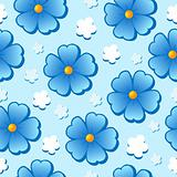 Flowery seamless background 7