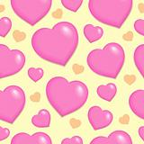 Seamless background with hearts 2