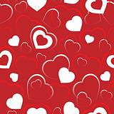 Seamless background with hearts 5