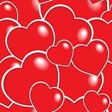 Seamless background with hearts 6