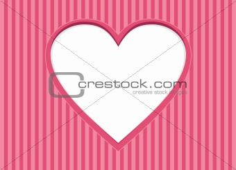 Greeting Card with heart frame. Background for Valentines Day.