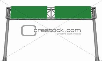 Blank highway signboard