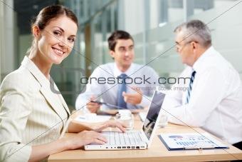 Charming secretary