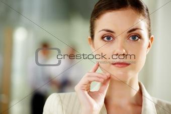 Calm businesswoman
