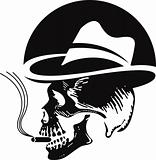 skull smoking