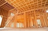 New house framing interior