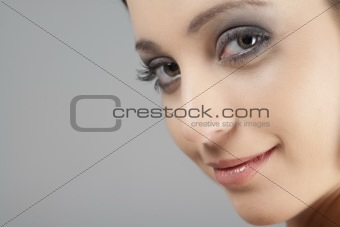 Portrait of young woman in beauty style pose