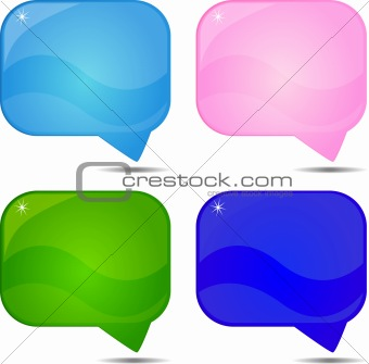 Abstract speech vector background
