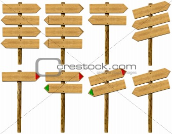 Set wooden signs