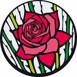 Stained-glass rose.