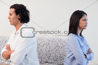 Couple angry at each other