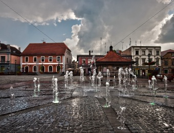 Small city in Latvia