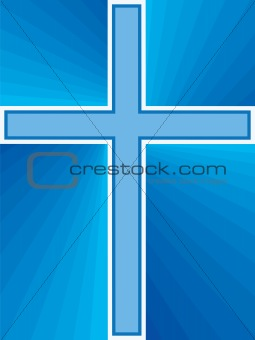 Blue Shiny Cross