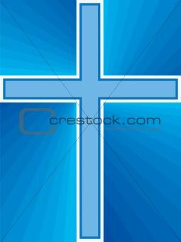 Blue Shiny Cross
