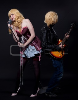 couple of musician - anime cosplay character