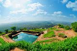 View from mount Sigiriya, Sri Lanka (Ceylon).