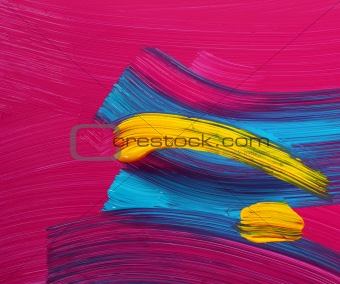 Bright colors paint strokes art