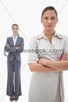 Portrait of serious businesswomen posing