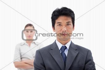 Business people posing