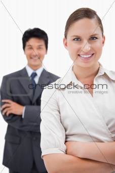 Portrait of smiling business people posing
