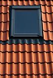 Dormer on a tiled roof