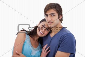 Charming couple embracing each other