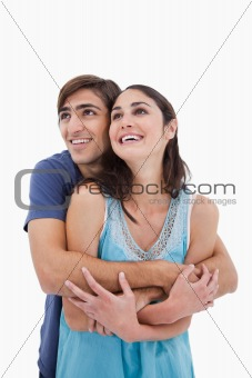 Portrait of an in love couple embracing each other