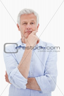 Portrait of a thoughtful mature man