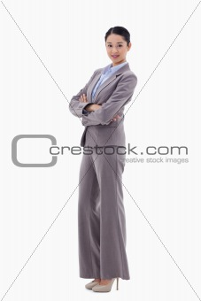 Portrait of a gorgeous businesswoman with the arms crossed