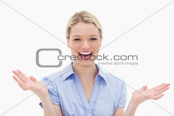 Cheerful laughing woman
