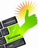 technology success hand