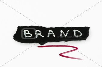 Brand text conception