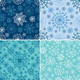 Vector set of seamless Christmas patterns