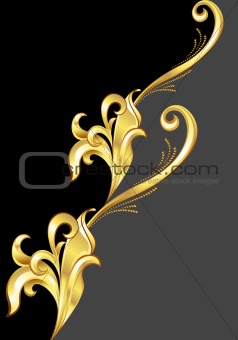 An abstract gold pattern