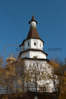 Tower of the New Jerusalem Monastery. Russia