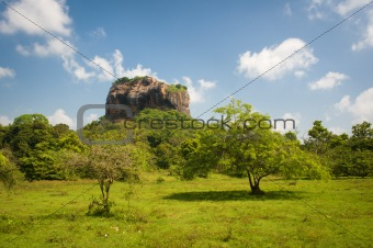 Lion's rock - ancient rock fortress and palace