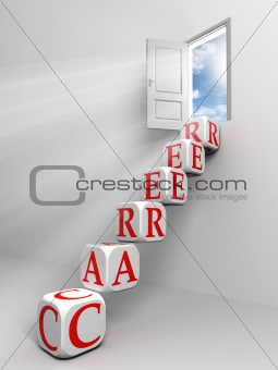 career conceptual door