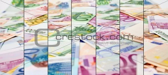 Abstract euro currency background