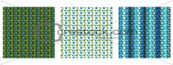 Set of 3 Polka Dotted Backgrounds
