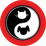 Yin Yang Cat Dog