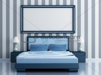 bedroom with a bed