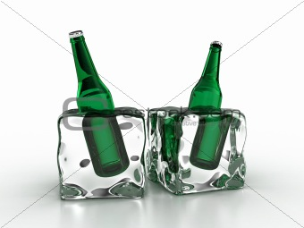 Frozen bottles