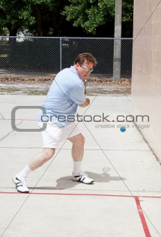 Aggressive Racquetball Player