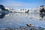 boat in Antarctica