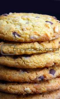 Close up of delicious chocolate cookies
