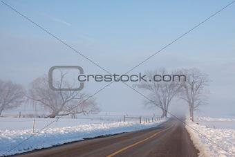 Foggy Rural Road