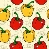 Pepper seamless pattern