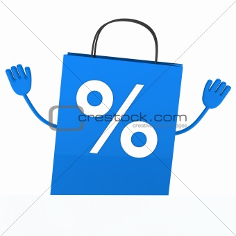 Blue sale percent bag wave