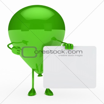 green balloon shows