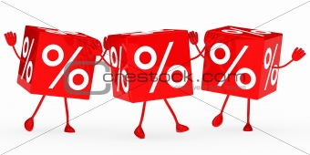 red sale cubes wave